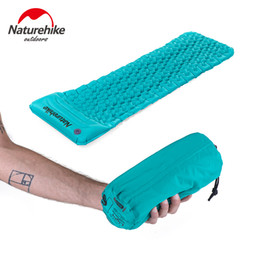 Wholesale Foam Sleep Mat - Wholesale-2016 NEW Naturehike Ultralight Outdoor Sleeping Pad Inflatable With Pillow Tent Mat Moisture-proof Mattress