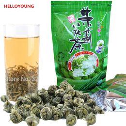 flores orgânicas de jasmim Desconto Hot sales C-LC004 Atacado de Alta qualidade Jasmine Flor Chá 100g Premium Jasmine Pearl Chinês Orgânico Chá Verde Hardcover chá perfumado