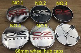 Wholesale Gold Chrome Wheels - Good quality 4pcs lot silver gold 68mm b-m-w OZ Wheel Hub Cap Emblem Badge StickerB x1x2x3x5 OZ Center Cap