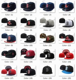 Wholesale Silver Hats For Sale - Wholesale All Teams Classic Navy Blue Boston Red Sox Fitted Cap Embroidered Team Logo Baseball Cap On Field Sport Fit hats for Sale