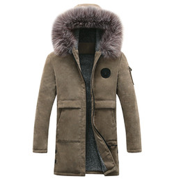Wholesale Add Winter Coats - Wholesale- The new men's added han edition hooded fleece winter long men coat of cultivate one's morality