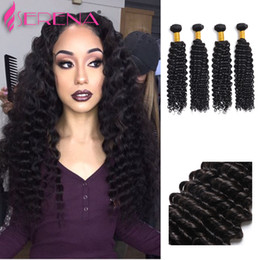 Wholesale Indian Hair Cheap Dyeable - Incredible Cheap Hair!Brazilian Peruvian Malaysian Indian Human Hair Loose Deep Wave No Tangle No Shedding 4 Bundles 10-30inch Dyeable