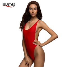 Wholesale Sexy Cheap One Piece Swimsuits - Wholesale- Sexy Womens Swimwear Bodysuit Summer One Piece Swimsuit Backless Women Swim Suit Plus Size Jumpsuit Cheap bather Beach Wear
