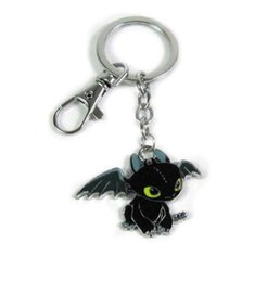 Wholesale Antique Action Figures - How to Train Your Dragon Action Figure Toys Keychains Cartoon Toothless Night Fury Doll Dragon Key Chains Car Key Rings Pendant