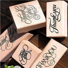 Wholesale Wooden Love Stamp - Wholesale- New Wooden Rectangle Stamp Rubber Craft Favour Scrapbooking Thank You Love Stamps free shipping