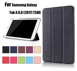 Wholesale Ipad New Screen - Business Flip book Leather case smart cover for NEW iPad Pro 9.7 Air Samsung Galaxy Tab A 8.0 (2017) T380