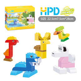 Wholesale Boy Stories - Block Puzzle Boys Toys Girls Gifts Bricks Blocks Stone Made Up A Story Children Plastics Assemblage Building Blocks Puzzle Birthday Present