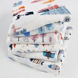 Аденное пеленание одеяла онлайн-6 стиль baby INS fox fish медведь хлопок одеяло aden anais полотенце дети пеленать обернуть одеяло одеяло полотенцесушитель B001