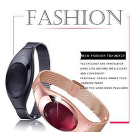 Wholesale Heart Rate Monitors Women - Wholesale- Smart Bracelet Fashion Android IOS Z18 Watches Blood Pressure Oxygen Heart Rate Pulse Monitor Fitness Tracker Women Smart watch