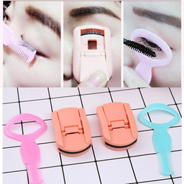 Wholesale Eyelash Curlers Sets - 2Pcs Set Portable Eyelash Curler Extension Applicator Remover Clip Eyebrow Eye Lashes Tweezers Nipper Tool Mini Eyes Curling For Lashes