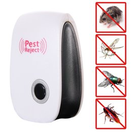 Wholesale Electronic Ultrasonic Anti Mosquito - Home Electronic Ultrasonic Rat Mouse Repellent Anti Mosquito Insect Pest Rejest Mouse Killer US EU Standard Plug