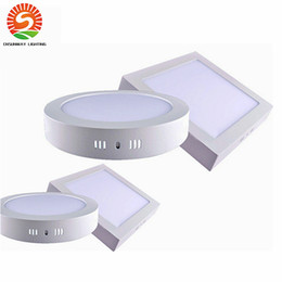 Wholesale Dimmable Ceiling 9w - Dimmable Surface Mounted Round Square celling Light 9W 15W 25W Led Downlight lighting Led ceiling downlight free shippiing