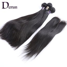 Wholesale Time Machine Wholesale - Limited time discount!Top Quality 7A Indian Hair Straight Human Hair Buy 3 Bundles Get 1 Free Lace Closure Free Shipping