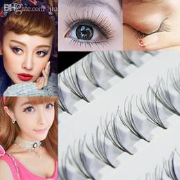 Wholesale Eyelashes 8mm - Wholesale- Black 8mm 10mm 12mm 60 Individual False Eyelash Cluster Eye Lashes Extension Tray For Make up 8F9V