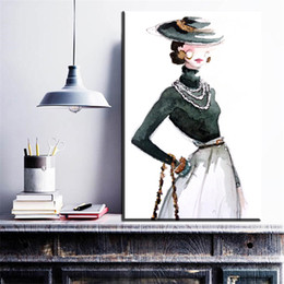 Wholesale Digital Oil Painting Lady - ZZ1318 graffiti canvas art beautiful cartoon lady canvas pictures banksy oil art painting for livingroom bedroom decoration art