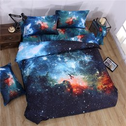 Wholesale 3d Print Comforters - 3D Bed Comforter Sets Galaxy Universe Personality Fashion Creative 3D Bedding Sets 3 4Pcs Printing Bedding Comforter Sets For Children