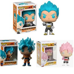Wholesale Vinyl Figures Pop - LilyToyFirm Funko pop Official Dragon Ball Z Resurrection F - Super Saiyan God Vegeta Vinyl Action Figure Collectible Model Toy