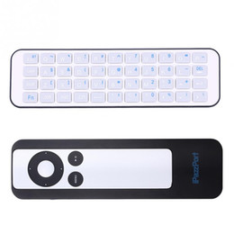 Wholesale portable tv sets - Wholesale-iPazzPort Portable Mini Set-top Box Remote Control Shell Bluetooth Wireless Keyboard Work for Apple TV