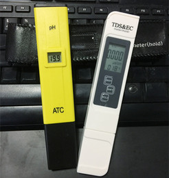 Ec mètres en Ligne-2pcs / lot Numérique LCD PH Mètre TDS EC Testeur de Qualité de L'eau Mètre Stylo LCD Moniteur Aquarium Analyseurs de Piscine