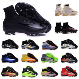 Wholesale Soccer Shoe Yellow - 2017 original mens botas de futbol What the Mercurial CR7 soccer shoes high ankle Ronaldo superfly FG VI HERITAGE CR football boots