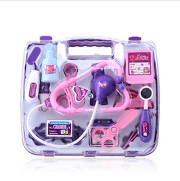 Wholesale Intelligent Toys For Boys - Doctor Play Set Medical Toy for Boy Girls 2017 Intelligent Medicine Box Educational Toys Kids Gift EC-157
