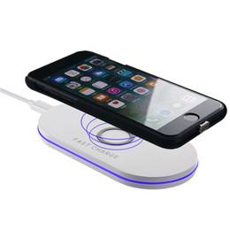 беспроводное зарядное устройство для мобильного телефона Скидка Q100 Беспроводное зарядное устройство для беспроводной зарядки мобильного телефона со светодиодным индикатором для iPhone и Samsung с розничной упаковкой