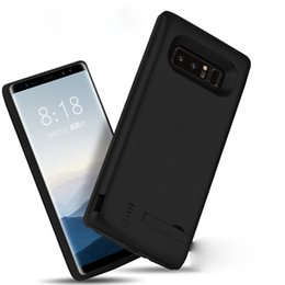 Wholesale Galaxy Note Power Bank - 6500MAH high capacity phone charger case for galaxy note 8 power bank charger cover for samsung galaxy note 8 black