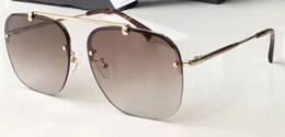 Wholesale fast feather - Mens FEATHER Light Weight Metal Sunglasses SPS 08R gold brown designer Sunglasses Fast delivery Brand New with Case