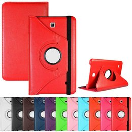 Wholesale Galaxy S Flip Cover - 360 Rotating Flip PU Leather Cover Stand Case For iPad Mini 1 2 3 4 Samsung Galaxy Tab S S2 A E J T230 T330 T280 T377 T350 T700 T710 T715