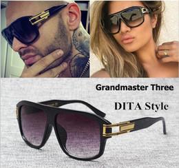 Wholesale Hip Sunglasses - Brand Designer 2017 D T sunglasses grandmaster three sunglasses vintage men women sunglasses hip hop style Gradient Oculos De Sol Masculino
