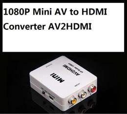 Wholesale Rca Tv Converter - 1080P Mini AV to HDMI Converter AV2HDMI RCA Composite video audio signals to HDMI signals for TV Monitor 10pcs lot