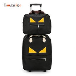 Conjunto de bolsos de viaje Oxford Cloth, equipaje Monster con bolso, equipaje de mano de gran capacidad, maleta de trole de embarque, caja de arrastre liviana desde fabricantes