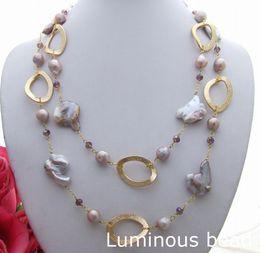 "Wholesale 14k garnet necklace - KE062002 48'' 20x30MM Keshi Pearl Crystal Necklace KE022708 40"" Pearl Amethyst FC122802 26"" Pearl Turquoise Garnet Necklace CZ Pendant"