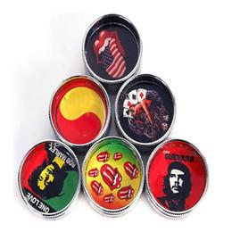 Wholesale Designed Herb Grinder - Mini Metal Grinder Herb Grinder 2 Parts 30mm Smoking Grinder Mix Design Color Hard Grinders Tobacco