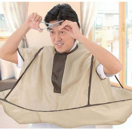 Wholesale Hairdresser Aprons Wholesale - Wholesale- New arrival Brown High quality Adult Hair-Cutting Cloak Salon Hairdresser Haircut Bib Apron Household cleaning products