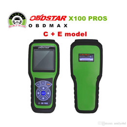 Wholesale Citroen C Key - 2017 Free Shipping OBDStar Auto Key Programmer X100 PROS C + E model Including X200 Scanner Function x-100 pros in Stock