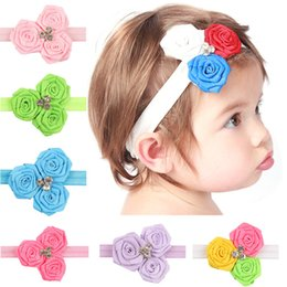 Wholesale Christmas Props For Baby Photography - Infant Flower Headbands Hairbands for Baby Girl Cute Baby Headbands Photography Props Headwear Rose Hair Bands for Kids