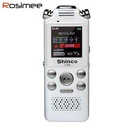 Wholesale Mini Acoustic - Wholesale-2016 new Shinco V59 X9 8G Mini Digital Audio Voice Recorder Pen Professional HD distance noise acoustic MP3 Player