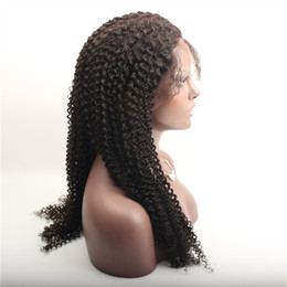 Wholesale Discount Color Wigs Women - Discount!! 22 inch full lace Tiny Afro Kinky Curly Wigs Human Hair Full Lace Wigs For Black Women with baby hair