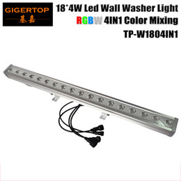 Wholesale Led Ceiling Color Changing - Freeshipping 18X4W Outdoor Led Wall Washer Light RGBW Indoor Ceiling Wall Mounting Lighting Waterproof IP65 4in1 Landscape Light