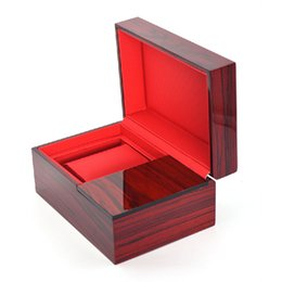 Wholesale Wooden Wine Box Gifts - High-grade Interior Wine Red Brand Wooden Watch Display Box Jewelry Storage Gift Watch Box Better Than Watch Case