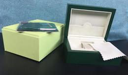 2019 мужские наручные часы Оптовые-роскошные часы Box Green Brand Original Box Papers Подарочные часы Коробки Кожаная сумка для 116610 116040 116660 116710 Часы MEN WOMEN дешево мужские наручные часы