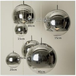 Wholesale Mirror Pendants - Mirror Ball Pendant Light Dining room Glass Pendant lamp By Tom Dixon Design