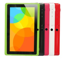 Wholesale Dual Cam Tablet - Wholesale- Yuntab 7 inch Quad core Q88 1.5GHz android 4.4 tablet pc allwinner A33 512M 8GB ROM Capacitive Screen Dual cam WIFI