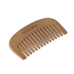Wholesale Wide Tooth Comb Wholesale - Sandalwood Wide Tooth Men's Beard Comb Professional Male Beard Mustache Facial Cleaning Hair Comb Styling Tool