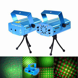 Wholesale Lighted Disco Dance Floor - Christmas mini Green&Red Laser DJ Party Stage Light 150mW Disco Dance Floor Lights Mini Laser Stage Lighting