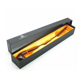 Lange rohre für tabak online-41 cm Holzpfeife Lange Tabakpfeifen für Raucher Raucher Mit Box Kostenloser Versand