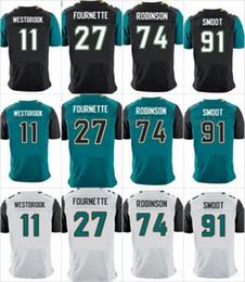 Wholesale Quick Picks - 2017 Draft Pick 27 Leonard Fournette Jersey 74 Cam Robinson Dawuane Smoot Dede Westbrook 5 Blake Bortles Black White Green American Jerseys