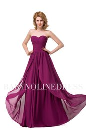 Wholesale Designer Split Front Wedding Gown - Real Images Cheap Long Chiffon Country Bridesmaid Dresses 2017 Ruched Sweetheart A Line Maid of Honor Gowns Beach Wedding Guest Dress BZP089
