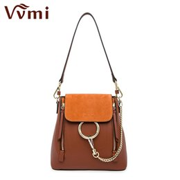 Wholesale Designer Style Rings - Wholesale- Vvmi 2016 new women bag chain ring backpack double zip single shoulder compatible brand designer multifunctional portable bag